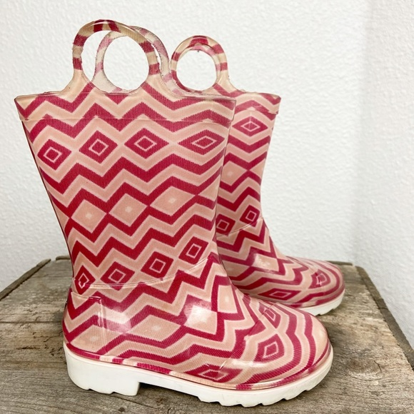 Toms Shoes Little Girl Toddler Pink Geometric Rain Boots Poshmark